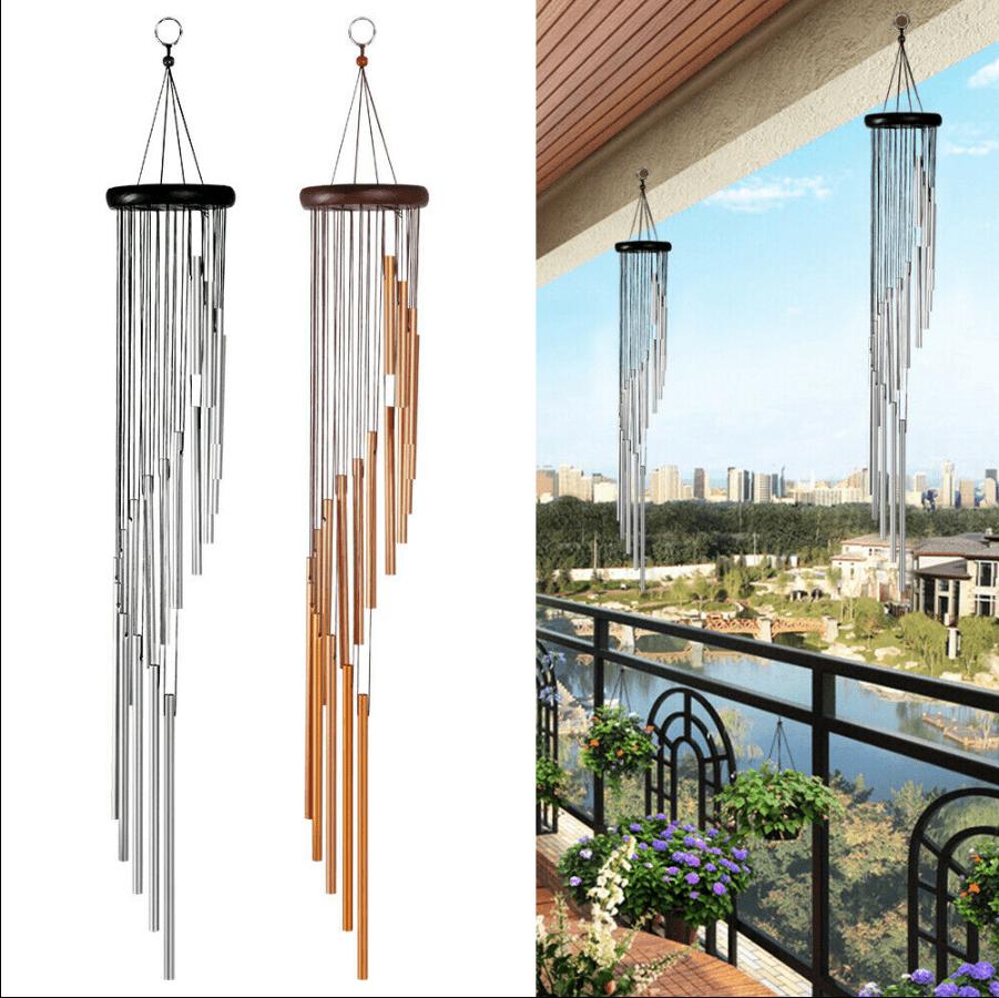 Aluminum Tubes Wind Chimes Hanging Ornament Wind Bells Yard Garden Outdoor Decor
