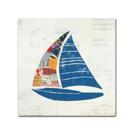 Trademark Fine Art 'Nautical Collage IV on Newsprint' Canvas Art by Courtney