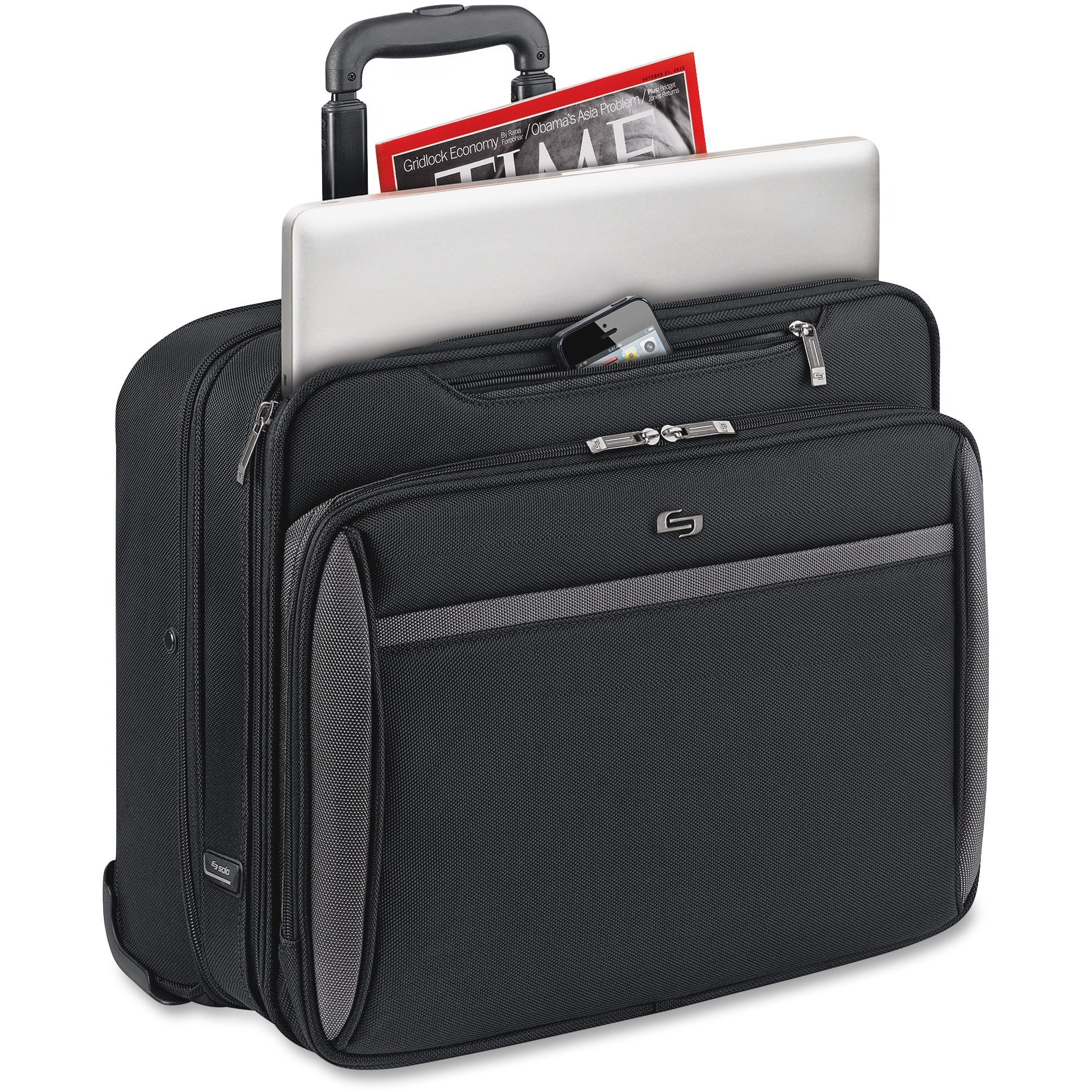 Solo, USLCLA9024, US Luggage CheckFast Rolling Laptop Case, 1, Black