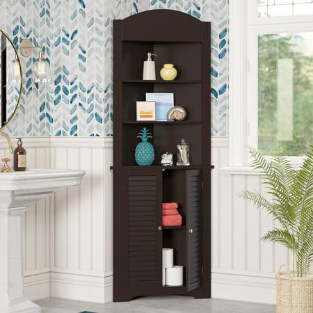 RiverRidge Ellsworth Collection - Tall Corner Cabinet - Espresso ()
