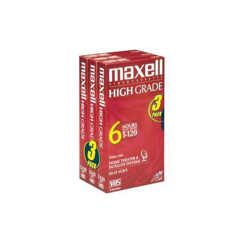 Maxell High Grade T-120 - High Grade - VHS tape - 3 x 120min