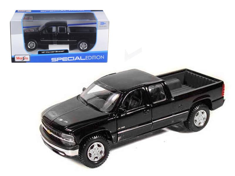 Chevrolet Silverado 1500 Pick Up Truck Black 1 27 Diecast Model by Maisto by Maisto