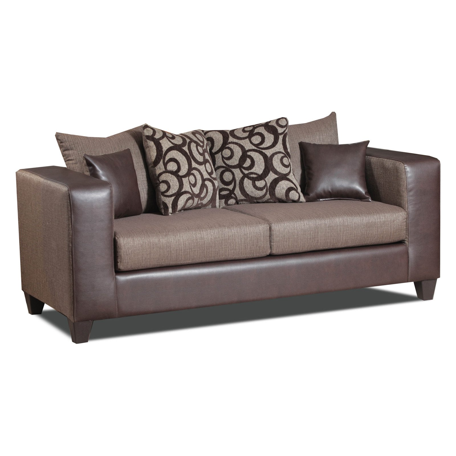 Chelsea Home Braddock Sofa with Toss Pillows