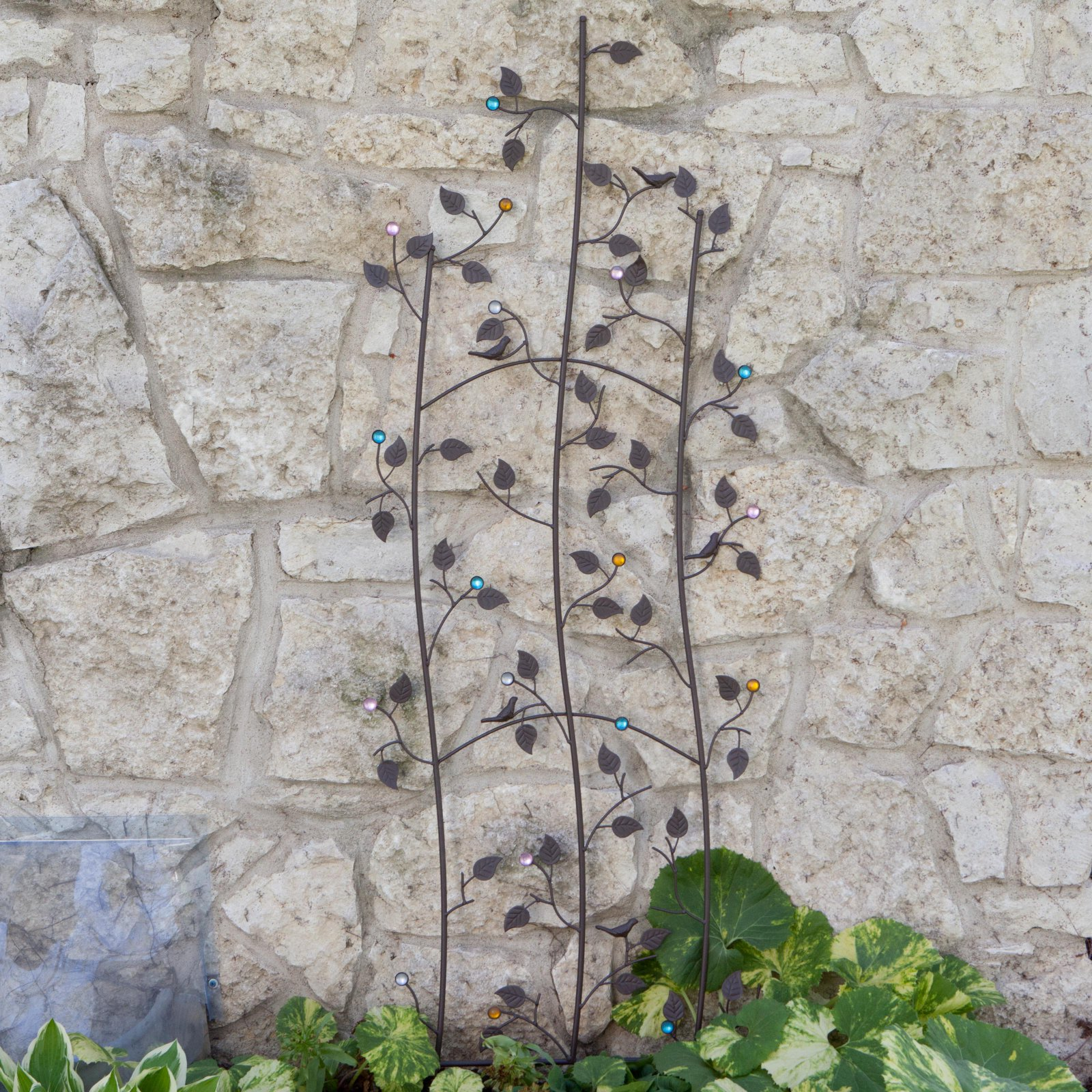 Coral Coast Jeweled Grape Vine Metal Wall Garden Trellis by