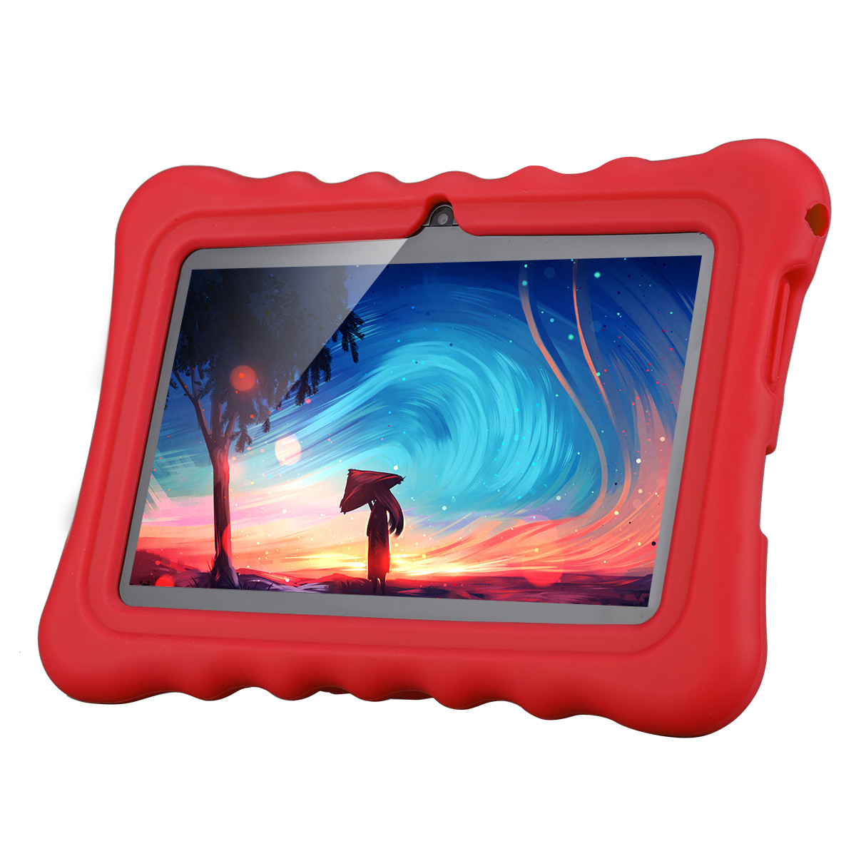 "Ainol Q88 7"" Kids Tablet PC, Android 4.4 External 3G RAM 8GB ROM 512MB Tablet with Dual Camera Wifi USB Phablet, Red"