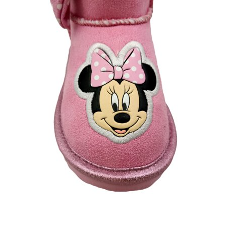 Disney Minnie Mouse Cozy Faux Shearling Winter Boot (Toddler Girls)