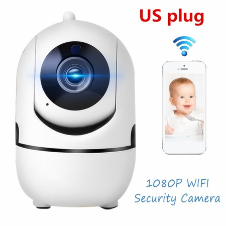 1080P/960P/360P HD Wifi Smart Home Security Camera Indoor CCTV Night Vision Wireless Baby Monitor Motion Detection Support TF Card For Phone APP Cloud Strage ()