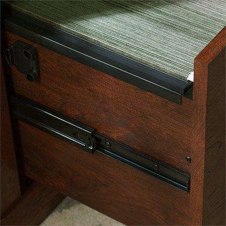 Bush Yorktown 4 Piece L Shaped Writing Desk Set in Antique Cherry - image 6 de 6
