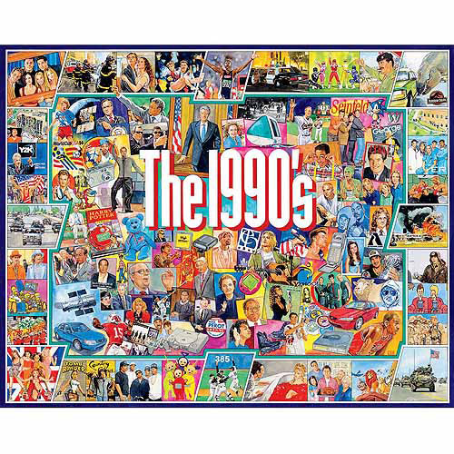 White Mountain Puzzles 1000-Piece Jigsaw Puzzle, The Nineties
