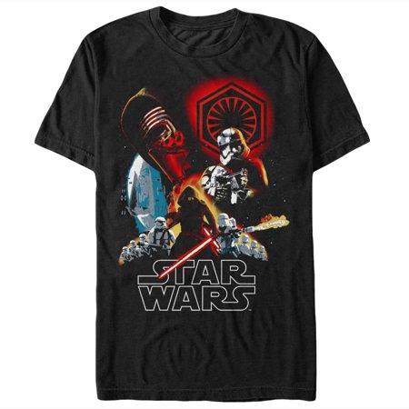 Star Wars The Force Awakens Men's First Order Art T-Shirt