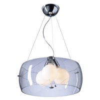 "Pendants 3 Light Bulb Fixture With Polished Chrome Finish Clear Glass A19 21"" 300 Watts"