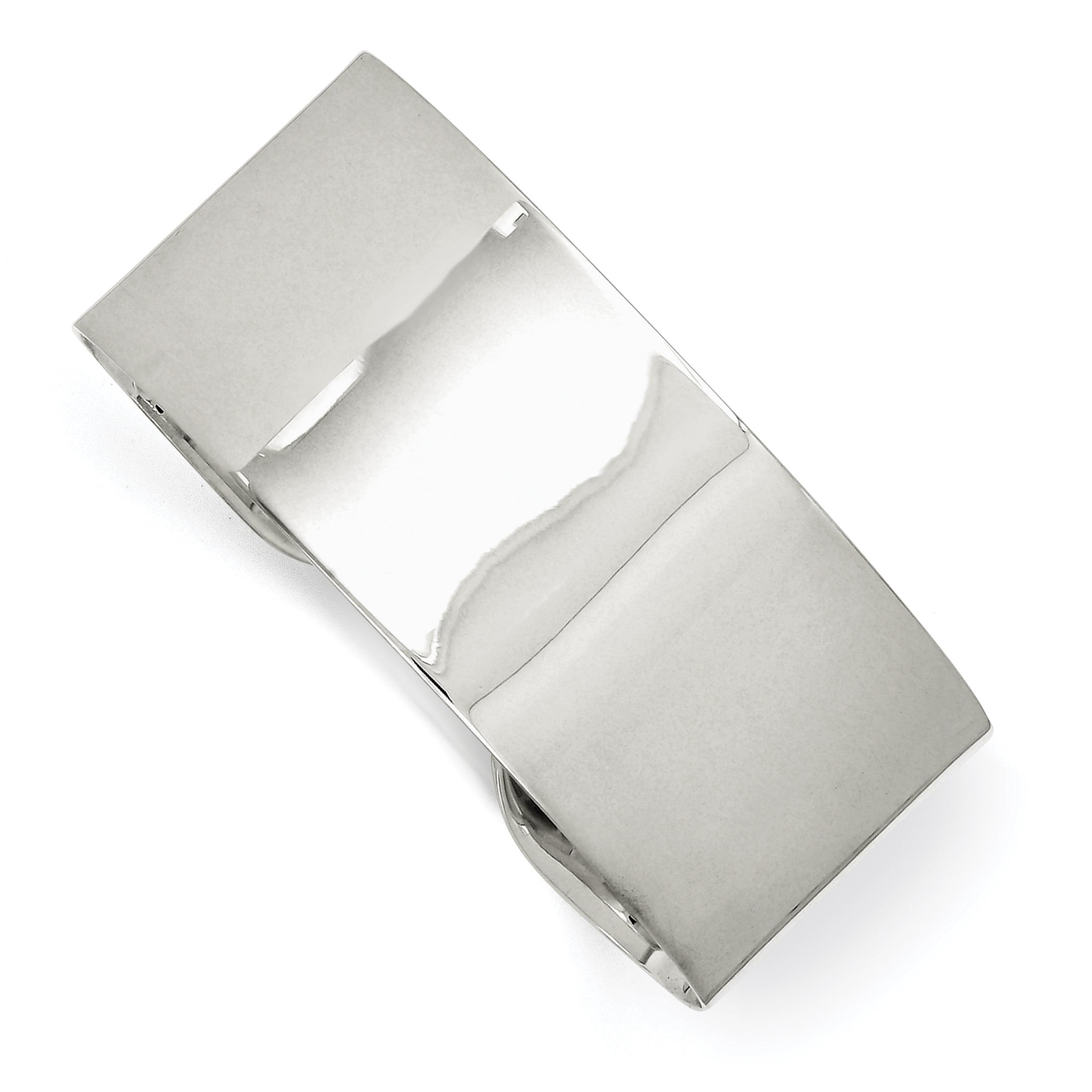 "Sterling Silver 25.25mm Fancy Cuff Bangle Bracelet Inch ""Bracelets - image 2 of 2"