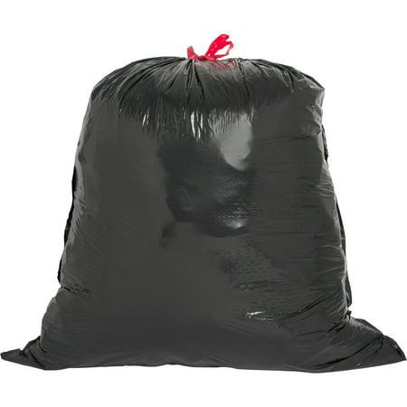 Genuine Joe, GJO01230, Black Flex Drawstring Trash Liners, 42 / Box, Black, 30 gal ()