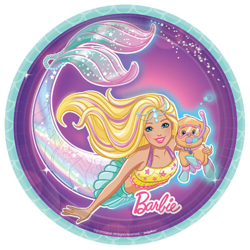 Barbie 'Mermaid' Small Paper Plates (8ct)