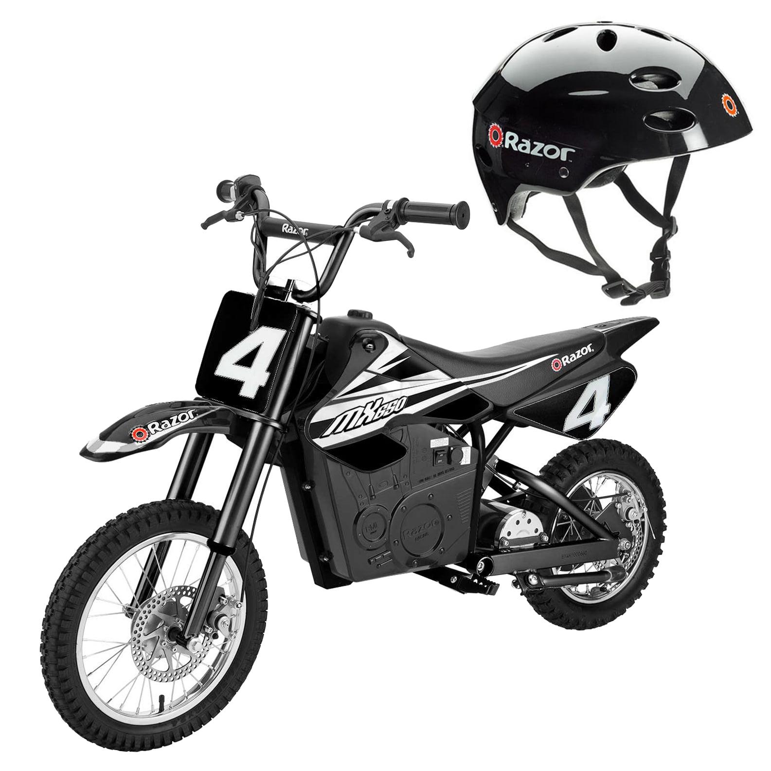Razor MX650 Electric Dirt Rocket Motor Bike for Kids 12 & Up + V17 Youth Helmet by Razor