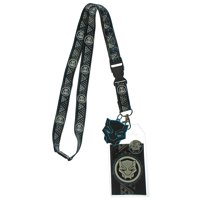 Marvel Black Panther Tribal Pattern Lanyard With Charm And ID Holder