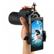Cellphone Telescope Adapter Mount, Universal Phone Scope Mount, Work with for Spotting Scope, Telescope, Microscope, Monocular, Binocular, for iPhone, Samsung, HTC, LG and More