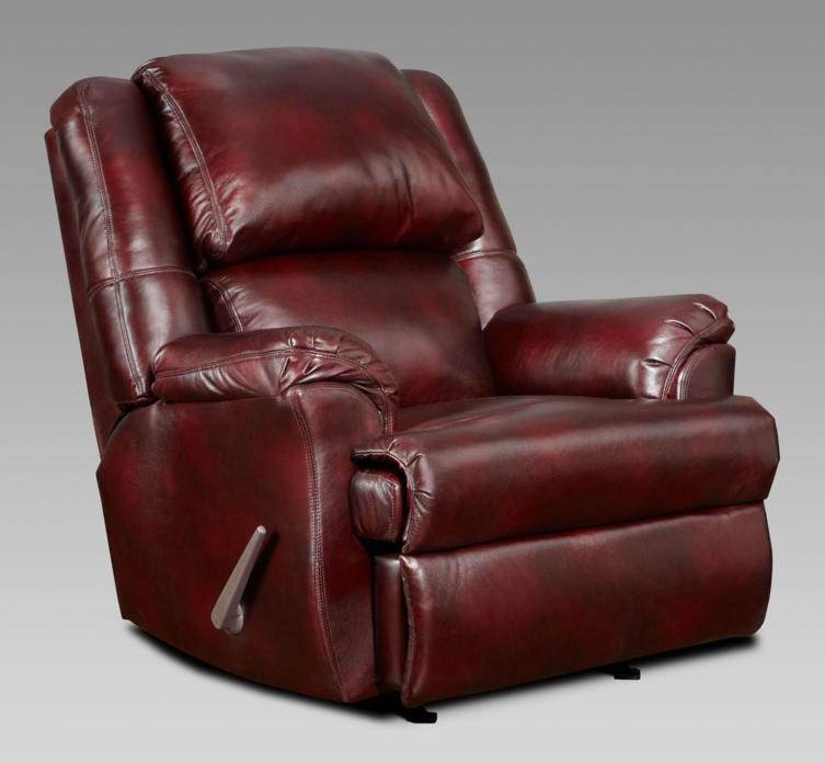 Transitional Chaise Rocker Recliner