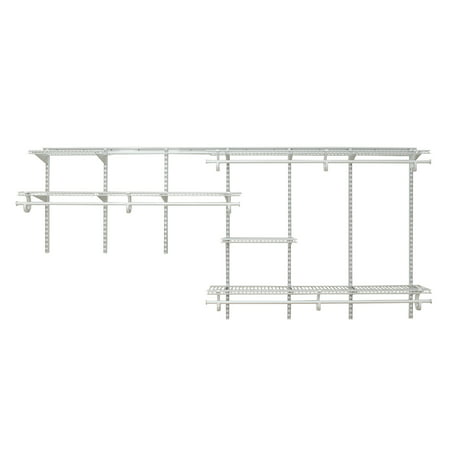Closetmaid 209100 Shelftrack 7 To 10 Foot Wide Closet System Kit - White