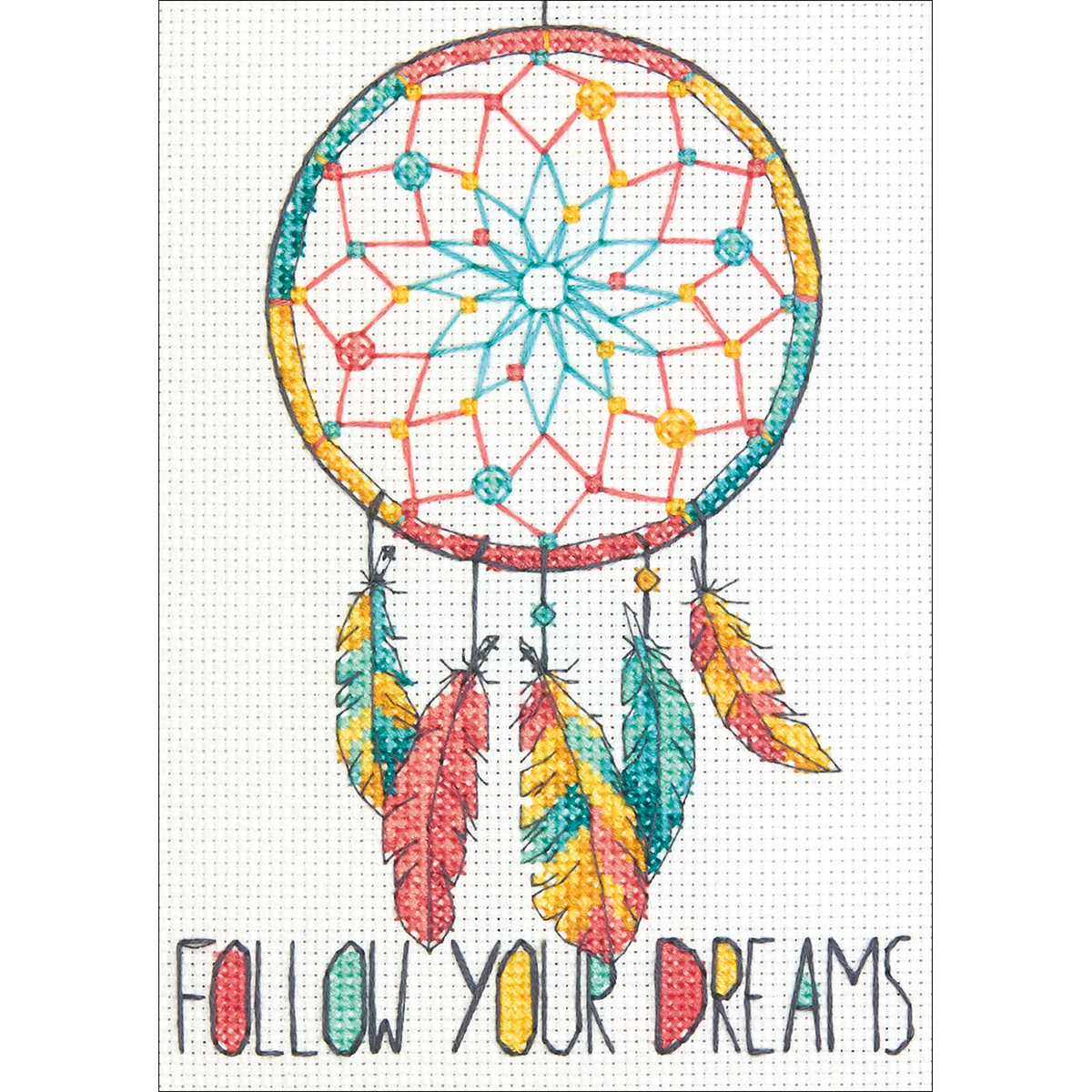 "Dimensions Mini Counted Cross Stitch Kit 5""X7""-Dreamcatcher (14 Count)"