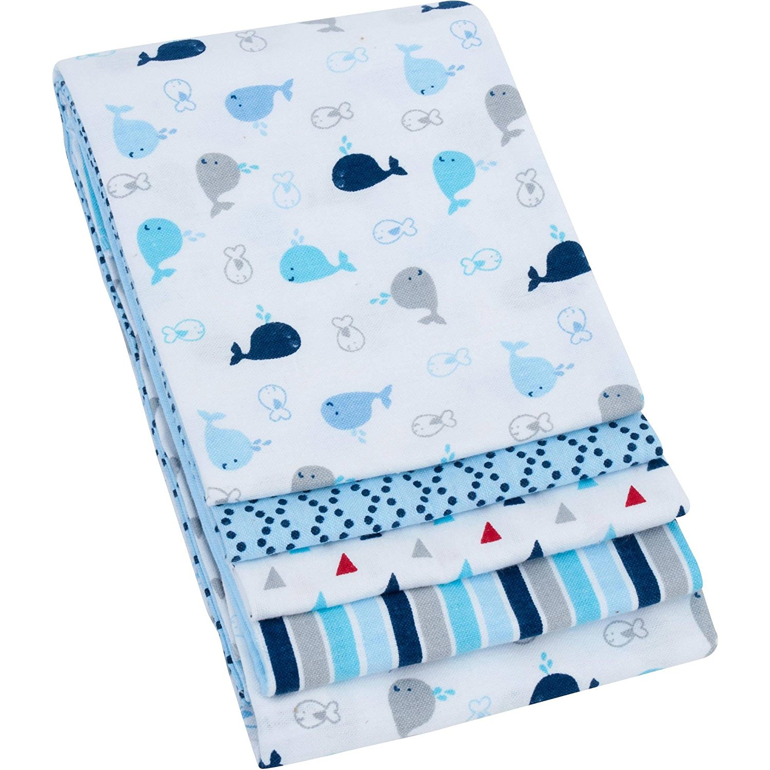 Brand New Garanimals 4-Pack Cotton Receiving Blankets, Blue, High-quality by Allena