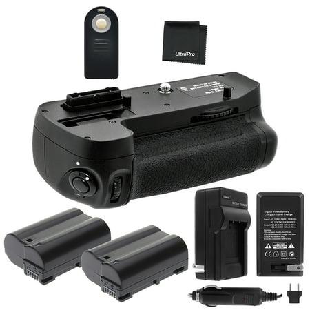 Battery Grip Bundle F/ Nikon D7100, D7200: Includes MB-D15 Replacement Grip, 2-Pk EN-EL15 Long-Life Batteries, Charger, More (New Battery Grip)