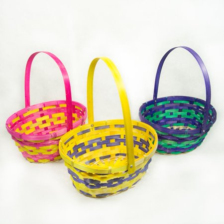 Folding Handle Oval Easter Basket