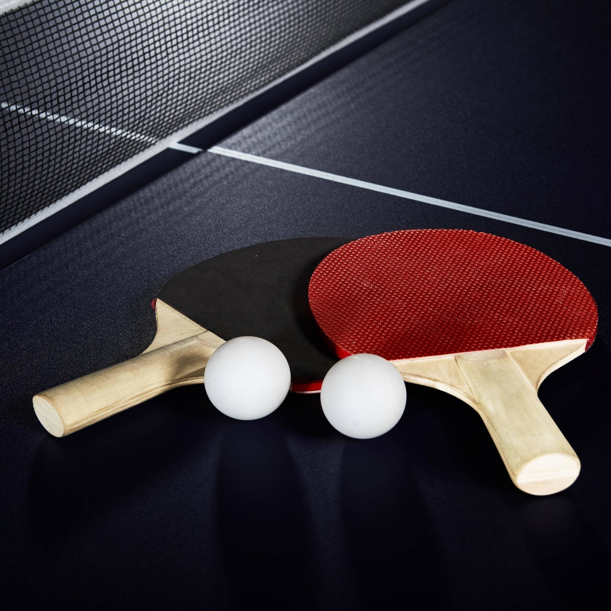 MD Sports Official Size Table Tennis Table, With Paddle And Balls,  Blue/White   Walmart.com