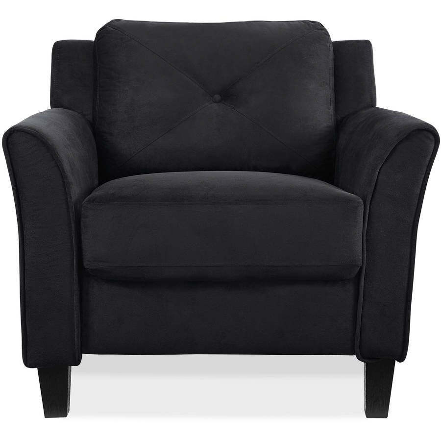 black living room chair curved arm chair black walmart 12688