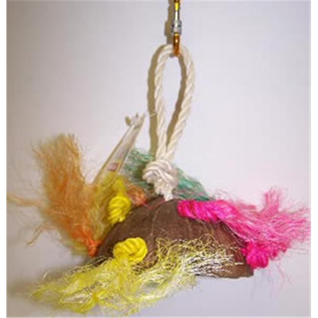 Pets Choice 463-00202 Coco Saucer With Sisal Rope Bird Toy