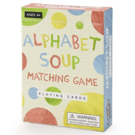 Alphabet Soup Matching and Memory Card Game by, Simple to set up and play! Learn upper and lower case letters, letter sounds, and spelling By Imagination -