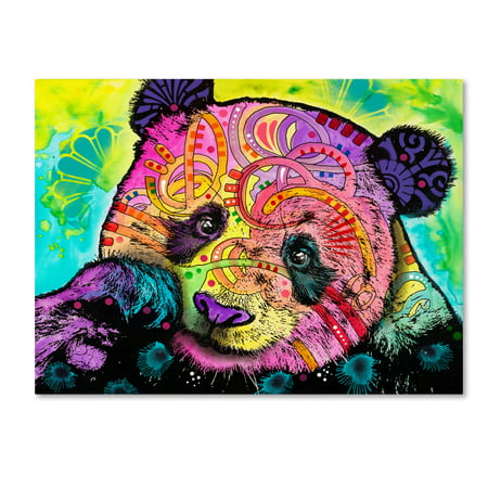 Panda Canvas Reproduction - Trademark Fine Art 'Psychedelic Panda' Canvas Art by Dean Russo