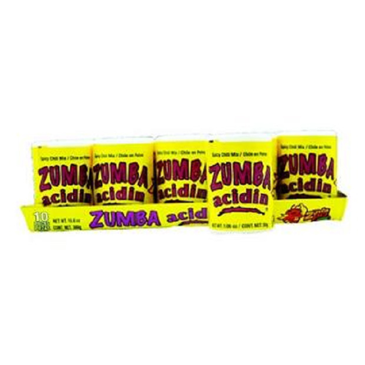Product Of Zumba Acidin, Spicy Chili Mix, Count 10 Sugar Candy   Grab Varieties & Flavors by