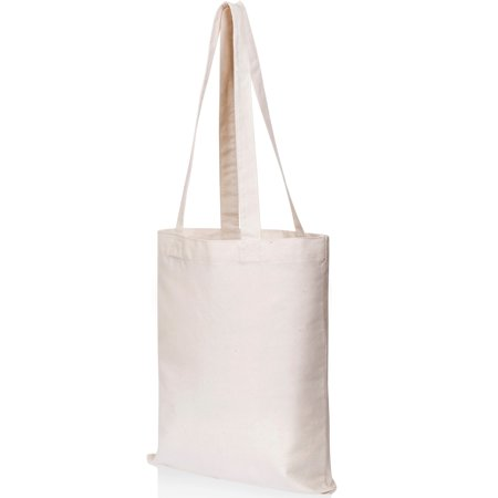 Canvas Craft Tote Bags (3 Pack) for Crafts, Gift Bags, Wedding Favors Bags, Welcome Bags, Goody Bags, Lunch Bags and More! (14x12 Inches)