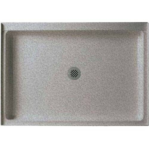 """Swan SS-3448-010 34"""" x 48"""" Swanstone Shower Base (Drain Included), Available in Various Colors"""