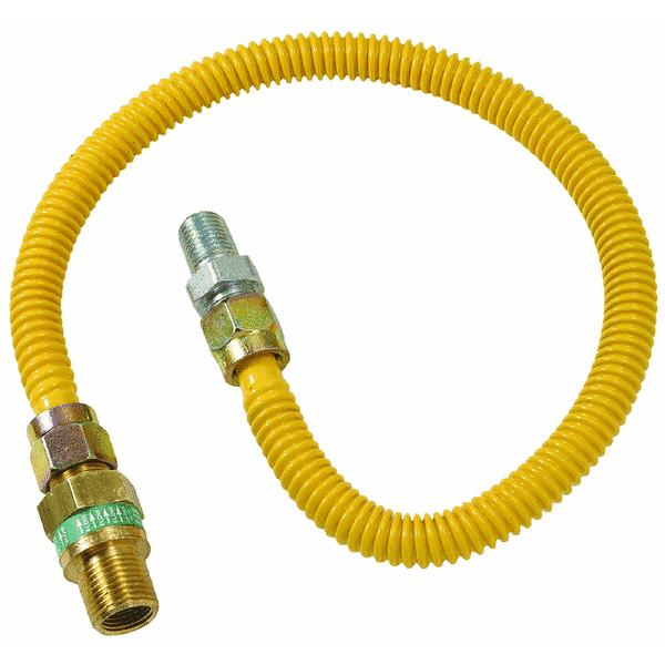 1/2 O.D. Gas Connector - 1/2 M.I.P. Safety+PLUS x 1/2 M.I.P
