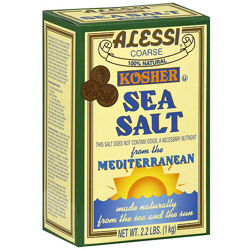 Alessi Coarse Sea Salt, 34 oz (Pack of 6)