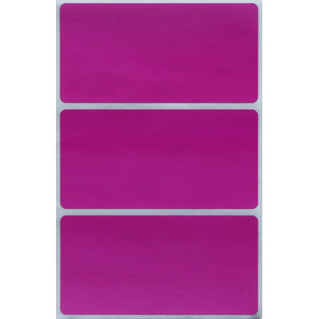Name tag stickers 4x2 inch - Purple colored sticker great for Reunions, parties and work events  - 45 Pack by Royal Green