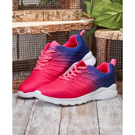 Women's Fuchsia Memory Foam Sneakers -