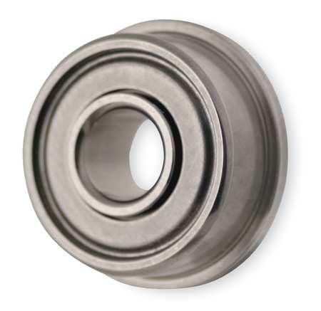 DYNAROLL SFRW1810ZZ A5 Mini Ball Bearing, Flanged, Bore 0.3125 In