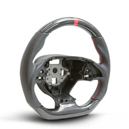 Handkraftd 2014+ Chevrolet Corvette Steering Wheel - Carbon/Leather/Red (2006 Chevrolet Corvette)