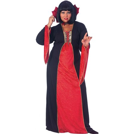 Gothic Vampiress Plus Size Adult Halloween Costume - Vampiress Costume Ideas