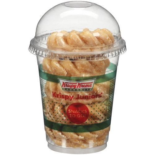 Krispy Kreme Doughnuts Krispy Juniors Snacks To Go! Glazed Mini Cruller/Powdered Cake Doughnuts, 4 oz