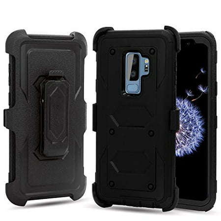 Galaxy S9 Plus Case, Mignova Heavy Duty Full Body Protective Case with Kickstand, Build-in Screen Protector and Belt Swivel Clip for Samsung Galaxy S9 Plus Smart Cell