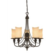 Westinghouse Lighting Hearthstone 5-Light Shaded Chandelier