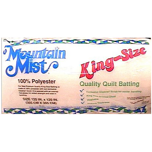 Mountain Mist Polyester Quilt Batting for King-Size Quilt