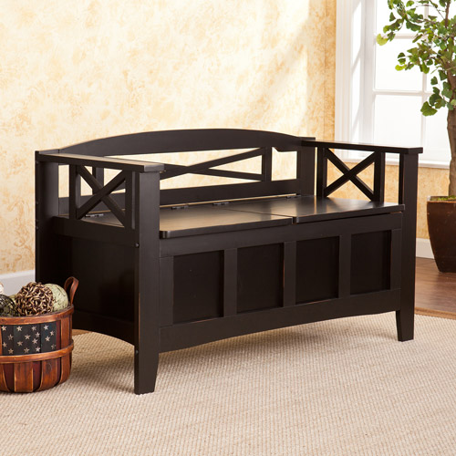 Brossard Storage Bench, Black