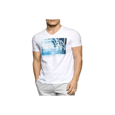 Calvin Klein Mens Sublimated Logo Graphic T-Shirt
