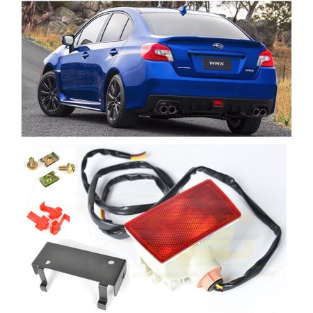 Extreme Online Store for 2015-Present Subaru Impreza WRX & STi | EOS Crystal RED Lens JDM Rear Driving Fog Light Reverse Back Up Tail Lamp W/Mounting Bracket