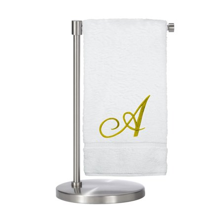 Bare Cotton Corp. Gold Script Monogrammed Turkish Cotton 27x54-inch Bath Towel (set of 2) - A ()